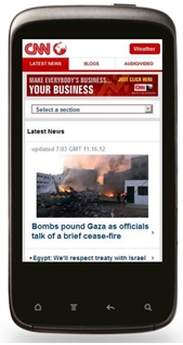 Adapting websites to mobile - CNN