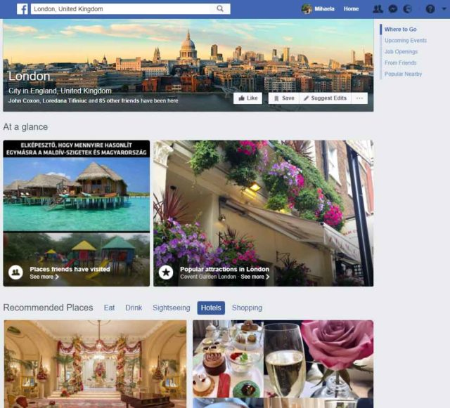 Facebook's City Guides