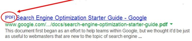Google search results for a PDF document